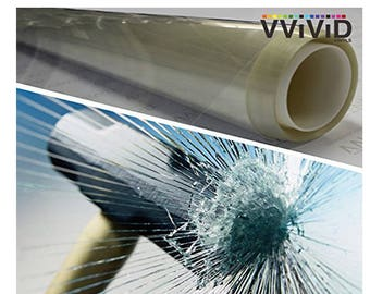 VViViD Shatterproof Safety Window Clear Vinyl Film (12 Mil)