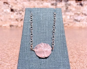 Hammered Quartz Necklace