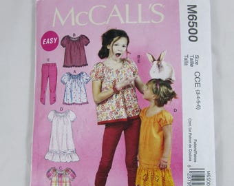 Girl's Tunic and Leggings, McCall's M6500, Uncut