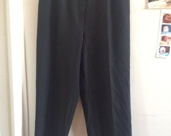 Black Vintage High Rise Pants