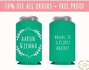 Wedding Can Coolers, Wedding Can Cooler, Wedding Favors, Wedding Cooler, Can Coolers, bridesmaids gift, custom can coolers, Wedding Favor