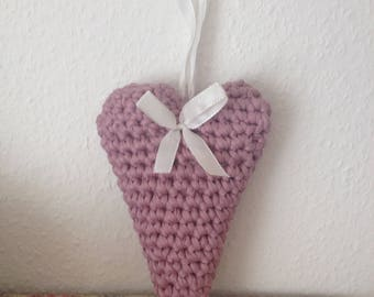Crochet - heart with Lavender fragrance