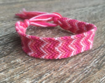Pink Lemonade Double Chevron Bracelet