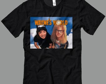 Wayne's World Poster T Shirt - Decals-T Shirts- Long Sleeves-Tanks-Sweatshirts-Hoodies-Youth-Womens-Mens-up to 5XL