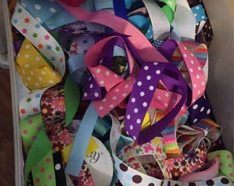 Entire ribbon collection -- hairbow supply!