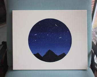 Circle Starry Sky Painting