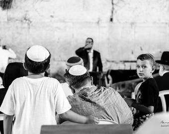 the child of the kotel jerusalem, photography, israel, judaica, Jewish, Western Wall kotel, old town, prayer, photo, black and white