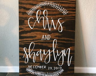 Welcome Wedding Sign - Wood Sign  - Home Decor