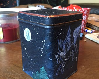 Hand-Painted Constellation Tea Box