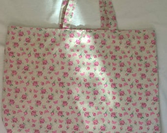 Handmade Tote Shopping/Book bag floral