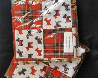 New Pair of Cotton Patchwork Cushion Covers with Zip Fastening