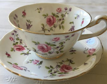 Royal Chelsea Teacup and Saucer - English Bone China -  Made in England