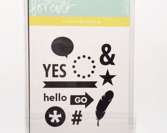 Studio Calico Hello Forever Foam Stamps