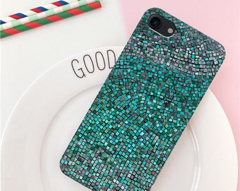 iPhone 8 case iPhone 8 Plus case iPhone 6 case green iPhone 7 Plus case scales case iPhone 7 case iPhone 10 case iPhone SE case mermaid case