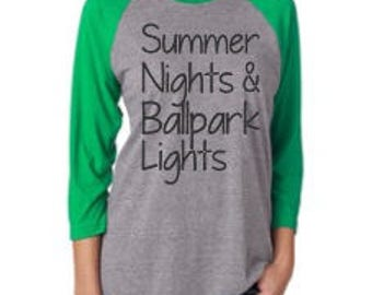Summer Nights & Ballpark Lights Women's Tee