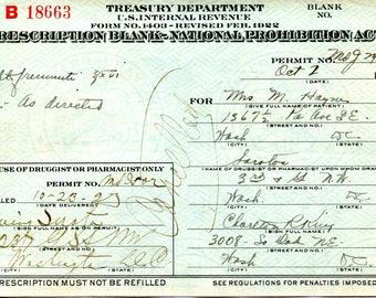Prohibition Prescription