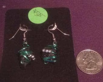 Tibetan Tektite Earrings