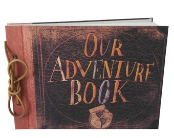 2017 Newest Our Adventure Book, Handmade Vintage Scrapbook, DIY Wedding Photo Album, Creative Guest Book with Leather String Cord