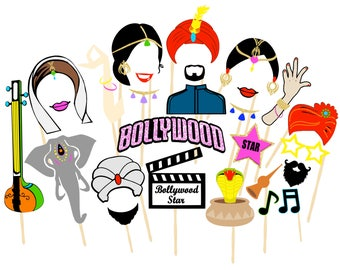 Bollywood Photo Booth | Printable Props