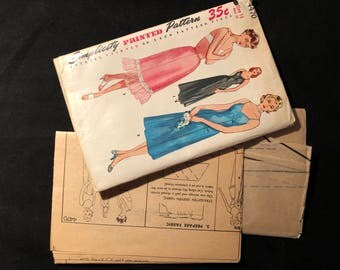 vintage 1950s simplicity sewing pattern 4470 size 18