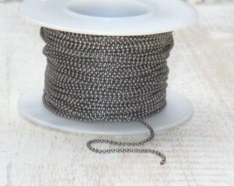 1mm Ball Chain Anique Silver