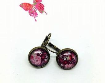 Earrings sleepers flowers