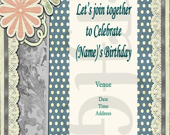 Birthday or Wedding Invitations