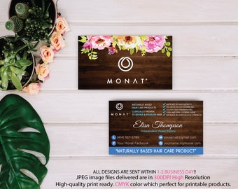 Monat Business Card, Custom Monat Business Card, PERSONALIZED Monat, Fast Free Personalization, Custom Monat Hair Care Card, Printable MN26