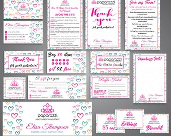 FULL Paparazzi Marketing Kit, Paparazzi Bundle, Paparazzi Business Cards, Paparazzi Marketing, Free Personalization, Printable file PP15