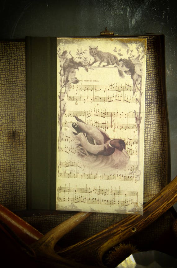 """Notebook journal """"Mallard"""" hunting Hunter Huntress sauvaginier ducks high-flying small game to the post office"""