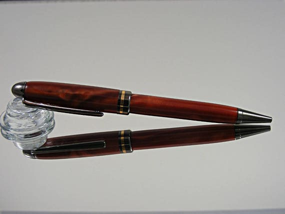 Handcrafted Classic Pen in Gunmetal and Cosmic Copper Acrylic