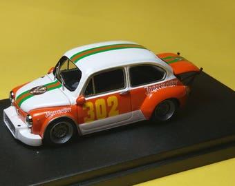 Fiat Abarth 850TC Jagermeister Bolzano-Mendola 1973 #302 Aladino Stefenelli REMEMBER Models 1:43 - Factory built