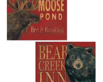 Moose Pond and Bear Creek 14x11 Set PRINTS
