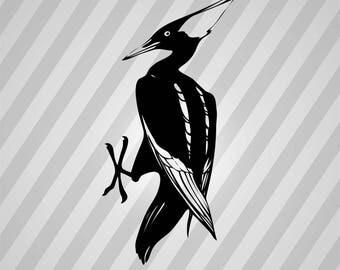 Woodpecker Bird Silhouette - Svg Dxf Eps Silhouette Rld RDWorks Pdf Png AI Files Digital Cut Vector File Svg File Cricut Laser Cut