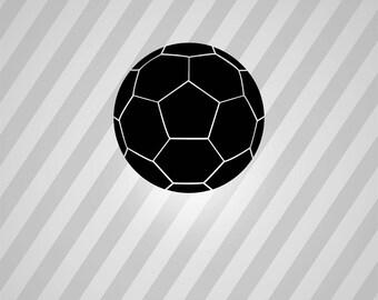 soccer ball Silhouette - Svg Dxf Eps Silhouette Rld RDWorks Pdf Png AI Files Digital Cut Vector File Svg File Cricut Laser Cut