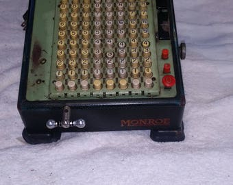 mid-century monroe high speed calculator