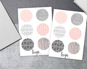 Circles - Pink and Gray