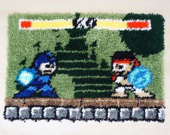 Floor Mat Megaman vs Ryu