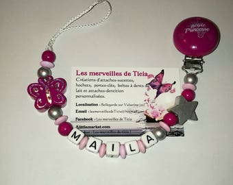 """Personalized pacifier """"Butterfly"""""""