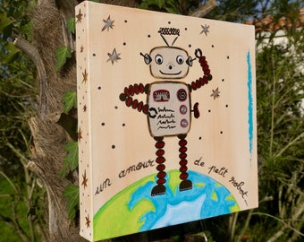 Table robot customizable child painting