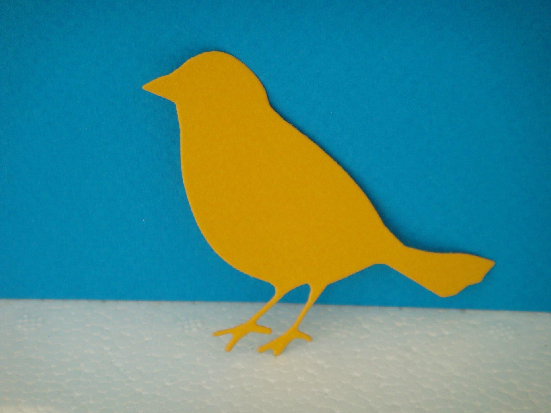 D coupe oiseau jaune fonc pour scrapbooking et carte for Oiseau jaune france