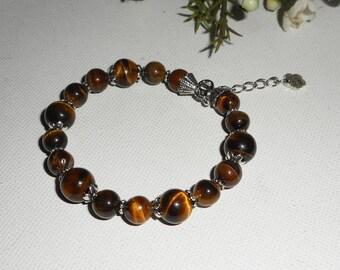 Brown Tiger eye stones bracelet