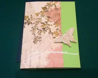 Envelope with embossed Butterfly birthday card