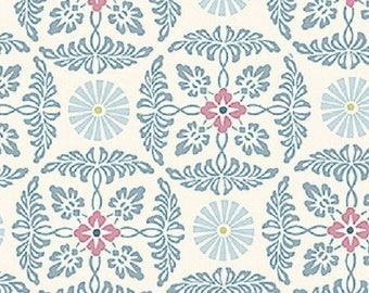 FABRICS, Coupon, 45 cm x 55 cm, flowers, English Summer Loft