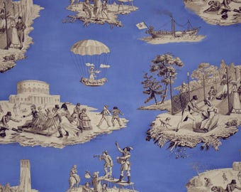 FABRIC, French toile de jouy, winter