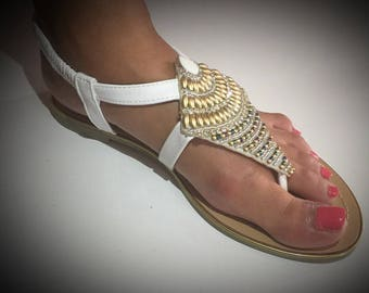 Tribal and chic woman style sandals