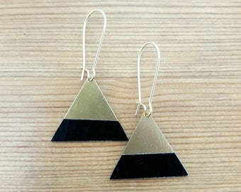 THE little ' TITS papers: Earrings triangle Washi tape