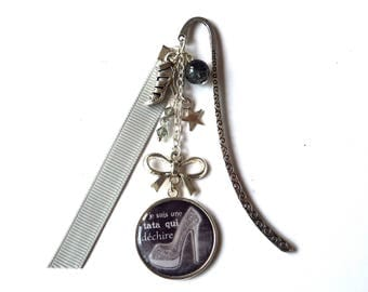"""Bookmark aunt - AUNTIE """"I'm an aunt who rocks"""" / gift"""