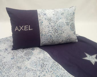 Blanket and pillowcase set matching pillow personalized