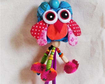 OWL bird jewelry bag, keychain...